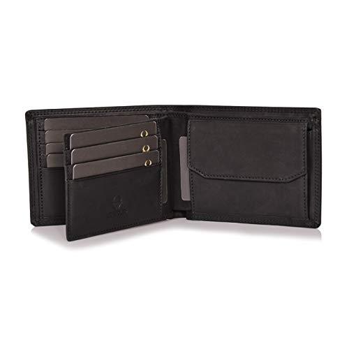 Donbolso Zürich Geldbörse Leder Herren - Geldbeutel schwarz - Portemonnaie für Männer mit RFID Schutz - Echtleder Portmonee