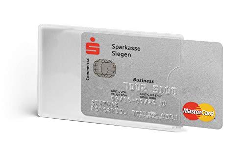Durable 890319 Kreditkartenhülle (mit Rfid Schutz, Rfid Blocking, Beutel à3 Kartenhüllen) silber transparent