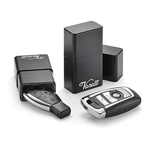 VONETTI Alpha Shield Premium Keyless Go Schutz Box für Autoschlüssel - Car Key Signal Blocker -Faraday Bag Schlüsseltasche – NFC, RFID Entry Safe Case für Auto Schlüssel – Schutzhülle