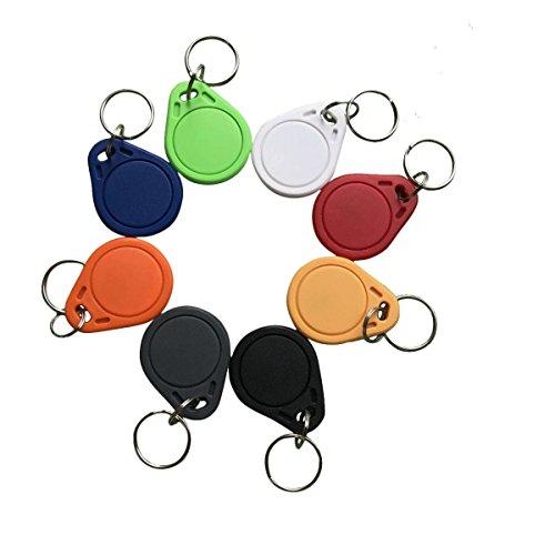 YARONGTECH 10PCS Wasserdicht ABS 13.56MHz ISO14443A MIFARE Classic® 1K NFC RFID Token, RFID Schlüsselanhänger, RFID-Tag