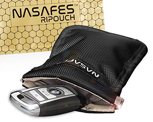 Autoschlüssel Schutz Keyless Tasche mit magnetisch-geräuschlosem Federverschluss ermöglicht 1 Hand Bedienung– Keyless Go Schutz Tasche blockiert...